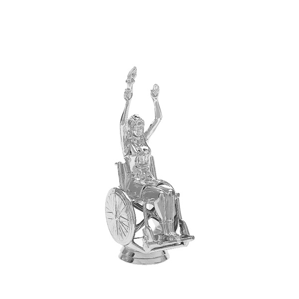 Wheelchair Victory Female Silver Trophy Figure