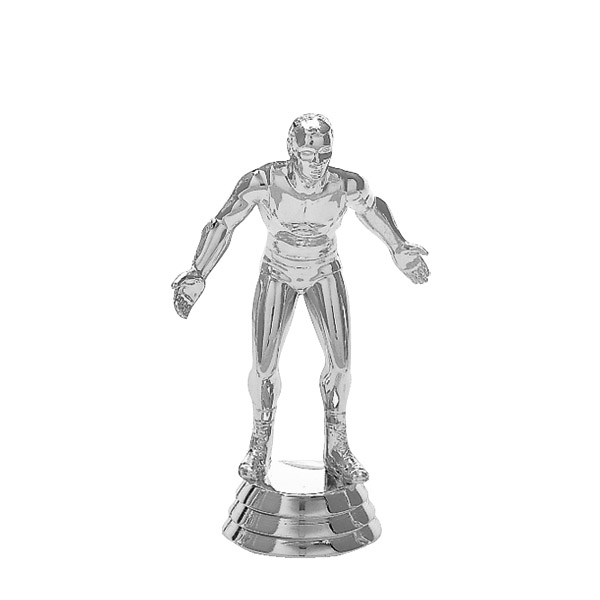 Wrestler Silver Trophy Figure