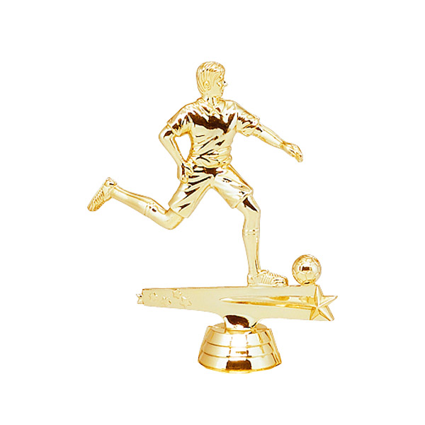 Male All Star Soccer Gold Trophy Figure