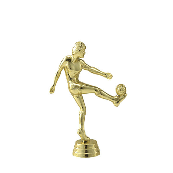 Soccer Kicker Female Gold Trophy Figure
