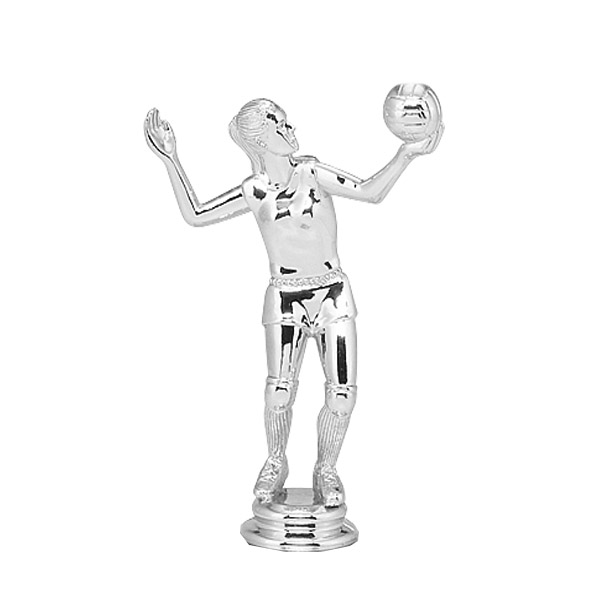 Volleyball Female Silver Trophy Figure