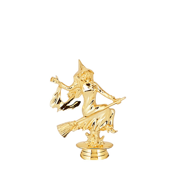 Witch Gold Trophy Figure