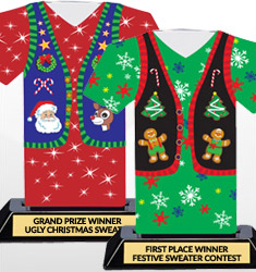 Ugly Christmas Sweater Trophies