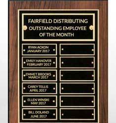 Multi-Plate Employee Plaques