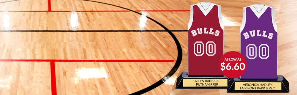 Basketball Jersey Trophies and Awards