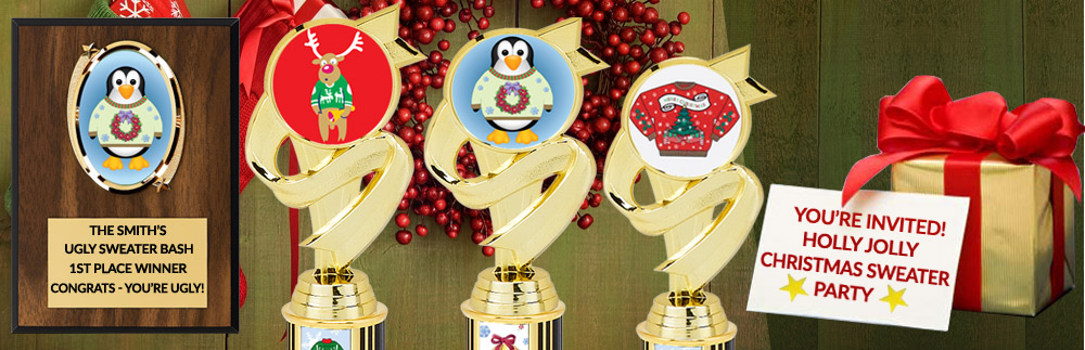 Ugly Sweater Christmas Trophies